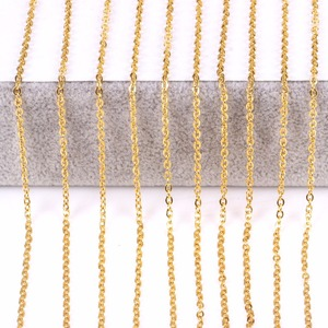 """Image 4 - 100 ピース/ロット 2/2。4/3 ミリメートル 16 """" 40"""" 男性 316L ステンレス鋼のネックレスクロス女性男性ジュエリーギフトシルバー/ゴールドカラー"""