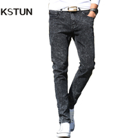 New Arrival Men Jeans Fashion Slim Pencil Pants Skinny Male Trousers Snow White Grey Stretch Jeans