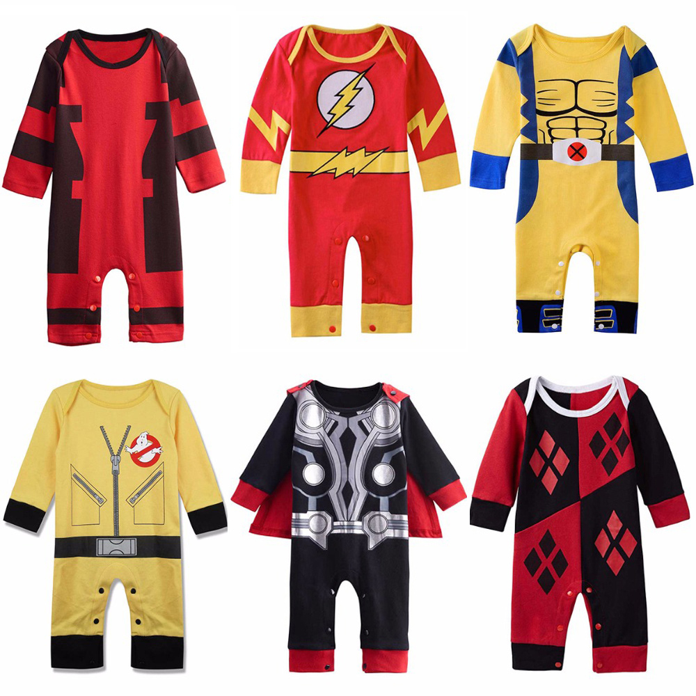 Baby Boys Superhero Costume Romper Infant Cute Outfit Thor