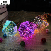 3D E27 Led Fireworks Bulb Decoration Holiday Light Silver Plated Glass Lampada SMD2835 AC85 265V Colorful Lights Diamond Lamp
