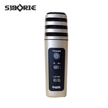 SIBORIE  condenser mobile karaoke  electronic microphone for cellphone rock&roll pc video recording voice changer microphone