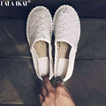 New Fashion Espadrilles Slip On Shoes  Flats Glitter Female Loafers Fisherman Shoes EMM EM3 Y-Printed Casual Shoes XWA0405-2