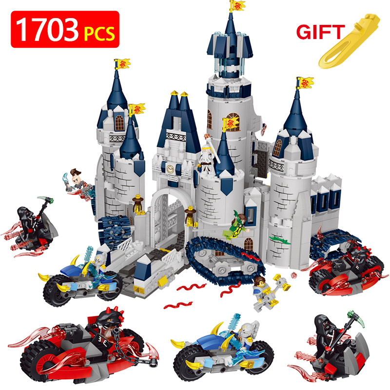 Creators Building Blocks Dragon Knight Set Compatible LegoINGLYS Ninjago Castle Magic Master Architecture Toys For Children castle and knight