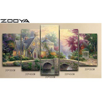 ZOOYA 3d Needlework Diamond Painting Beautiful Cabin Home Decor Diamond Embroidery All Drill Rhinestone Mosaic Pictures