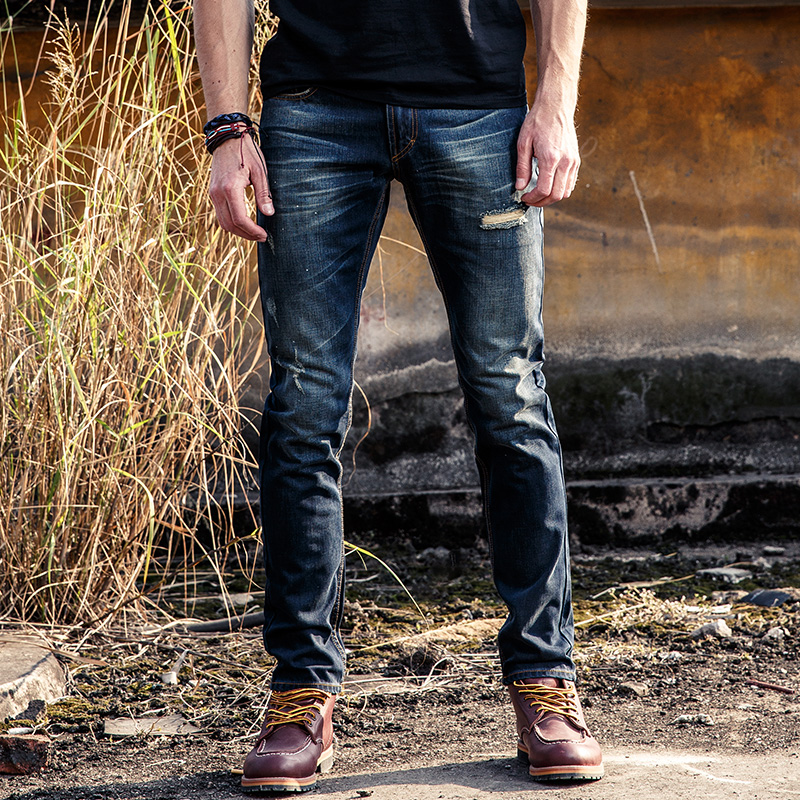 wash Men Jeans Straight mouth regular Size 28 to 36 Black Stretch Denim Slim Fit Men Jean for Man Pants Trousers Jeans