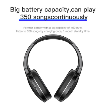 Adjustable & Foldable Bluetooth Headphone with Mic - D02 4