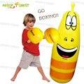 Venta caliente niños Inflable saco de boxeo boxeo Vaso roly-poly 1.15 M Deportes gusano Larva Amarillo niños regalos de cumpleaños para Los Niños