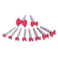 10 Unids 15mm-50mm Carpintería Herramientas de Carburo Brocas Set Cortador Agujero Consideró Brocas Forstner Auger herramienta de Madera de Perforación Herramienta Eléctrica