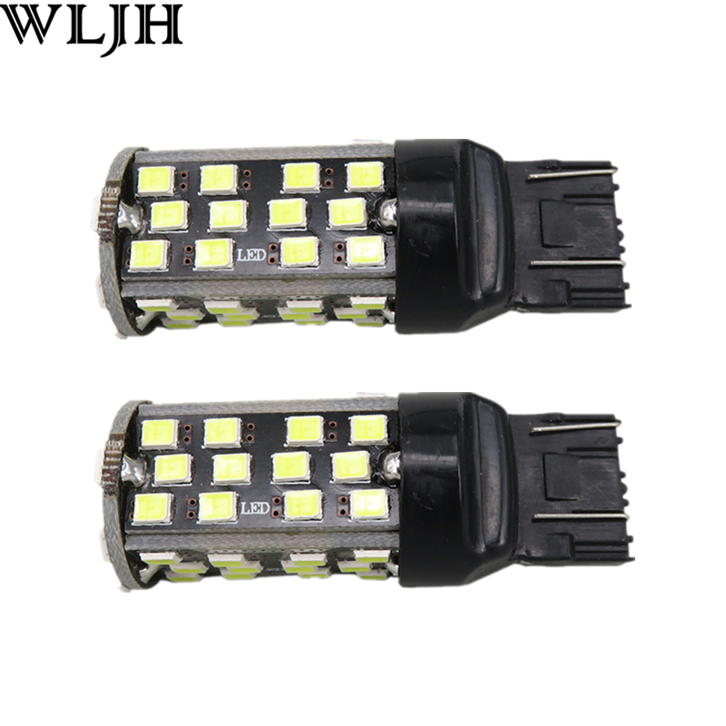 WLJH 2pcs High Power Canbus Car Led Light W21W 7443 7440 T20 Bulb Auto Lamp Error Free Reverse Backup LED Bulb For Ford Explorer wljh 2x canbus 20w 1156 ba15s p21w led bulb 4014smd car backup reverse light lamp for bmw 228i 320i 328d 328i 335i m3 x1 x4 2015