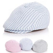 fb351f77d0e4c Enfants rayure Style classique bébé mode casquette bambin été bérets bébé  chapeau garçon casquettes pour enfant fille b.