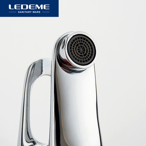 Image 5 - LEDEME Basin Faucets Basin Faucet Tap Mixer Finish Brass Vessel Stylish Sink Water Chrome Modern Waterfall Faucets L1013