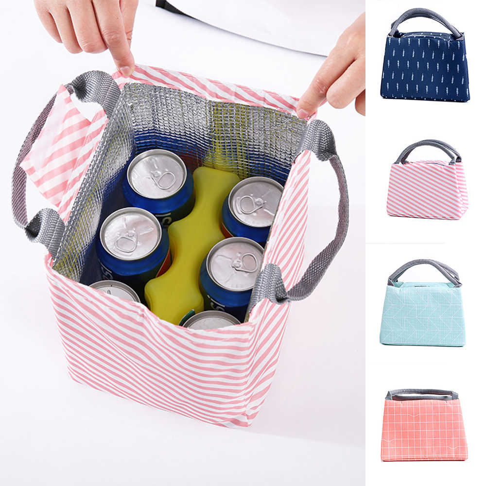 1Pc Portable Insulated Thermal Cooler Lunch Box Carry Tote Picnic Case Storage Bag Foods Container Kitchen,Dining & Bar Tablewar