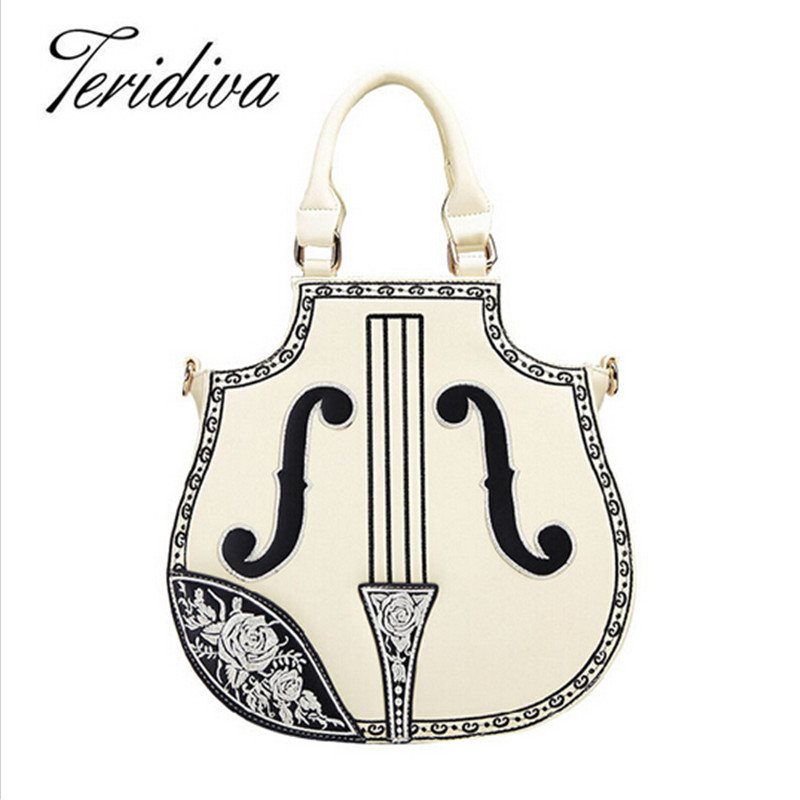 ФОТО New Arrival Rock Style Women Handbag Electric Guitar Bag Woman Bags Fashion 2017 Designers Brand PU Leather Shoulder Bag Ladies