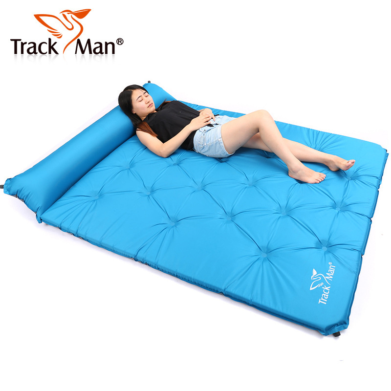 <font><b>On</b></font> sale 2 person self inflating automatic inflatable mattress beach cushion park mat BBQ fishing outdoor camping pad