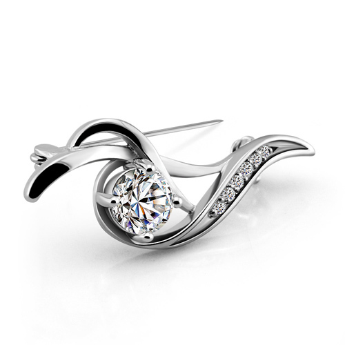 Fashion women silver brooches,925 sterling silver brooches