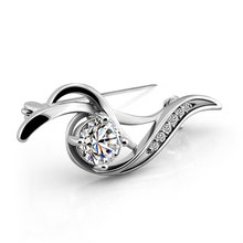 Fashion women silver brooches,925 sterling silver brooches(China)
