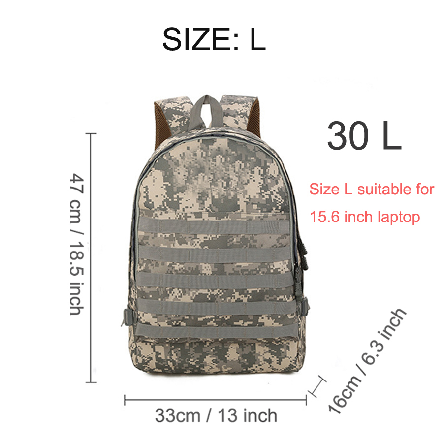 2018 Outdoor Sports Backpack Men Tactical Bag 10L30L (3)