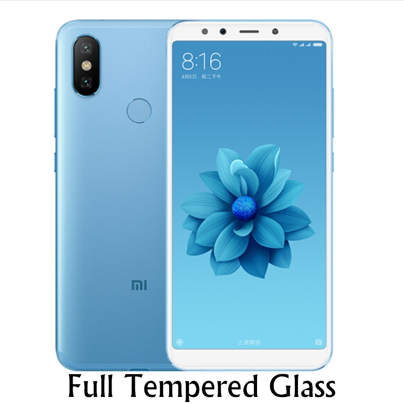 Full Cover Tempered Glass For Xiaomi Mi A2 Screen Protector On Xiomi Mi 6x Global Version Curved Edge Protective Film GLAS Sklo