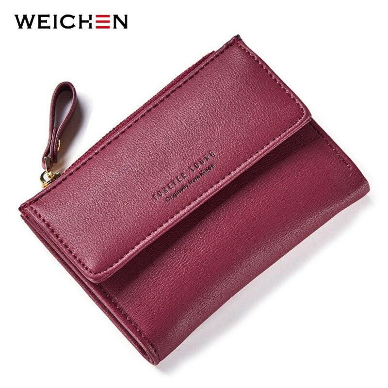 WEICHEN Marke Designer Frauen Brieftasche Mit Zipper Münzfach Karte Slots Weibliche Brieftaschen Damen Geldbörsen Kurzen Carteras Hohe Qualität