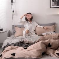 12868 100% Cotton Bedding Sets Duvet Cover Dinosaur Fish Carrot Miss Rabbit Simple Flat Bedsheet Pillowcase 4 pcs Bedding Kit