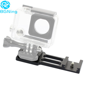 Image 4 - Upgraded CNC Aluminum 20mm Gun Side Rail Mount for Gopro Xiaoyi Gitup Sport Action Camera for Hunters Airsoft Player Accessories