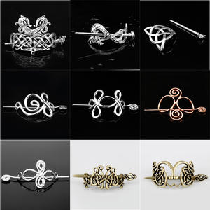 Hairpins Hair-Jewelry Viking Crown Celtics Vintage-Style Girl Women Metal-Color Knots