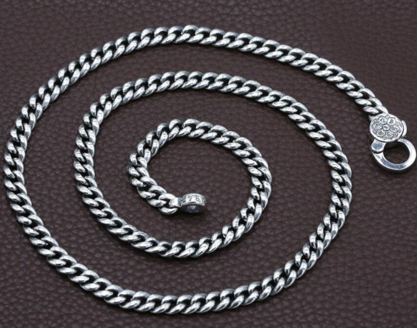 925 Sterling Silber Mode Student Halskette sechs wort Mantra Mit Frieden Jewerly-in Kette Halsketten aus Schmuck und Accessoires bei  Gruppe 1