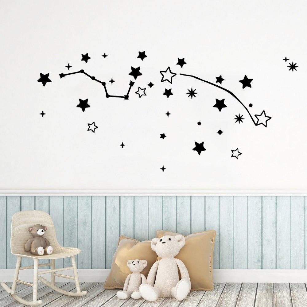 Plane Sticker Star  Wall Stickers Decorative Home Decor Kids Room Nature Waterproof Wallpaper