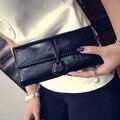 Nova Moda Senhoras Bolsa de Couro Pu Carteiras das Mulheres Cor Brilhante 4 Cores Projeto Longo Das Mulheres carteiras E Bolsas