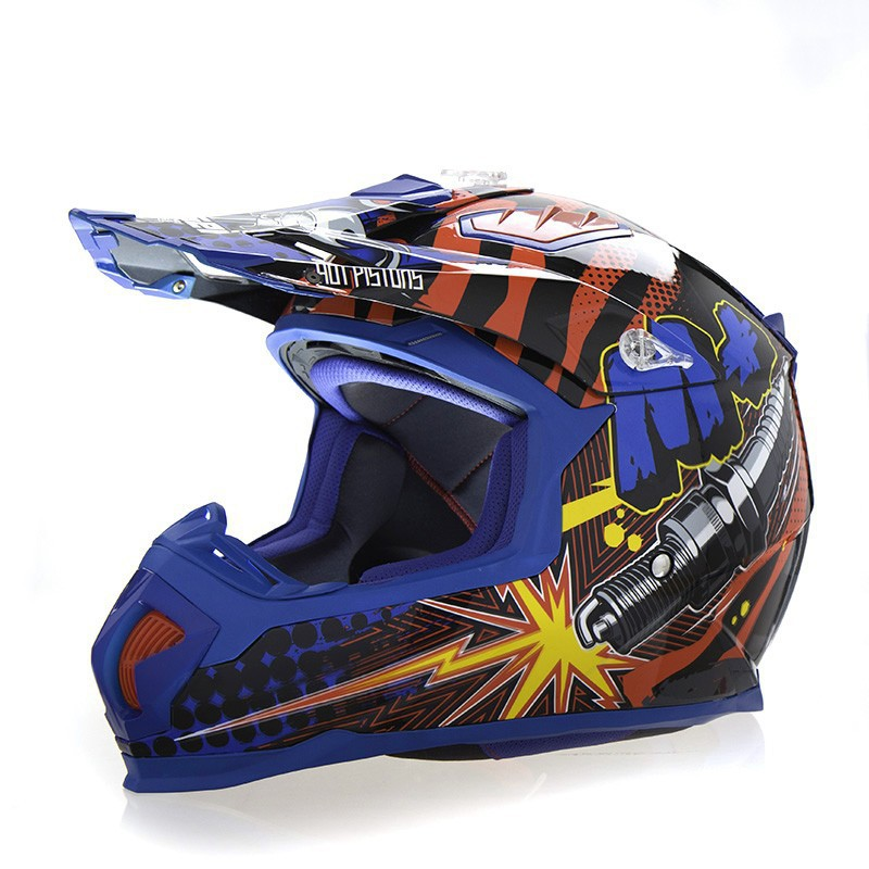 Motor Cross Helmet Motorcycle MOTO Off Road Dirt Bike Helmet Motorbike  Storage Clearence Amazing Price Blue XXL DOT ECE Approval In Helmets From  Automobiles ...
