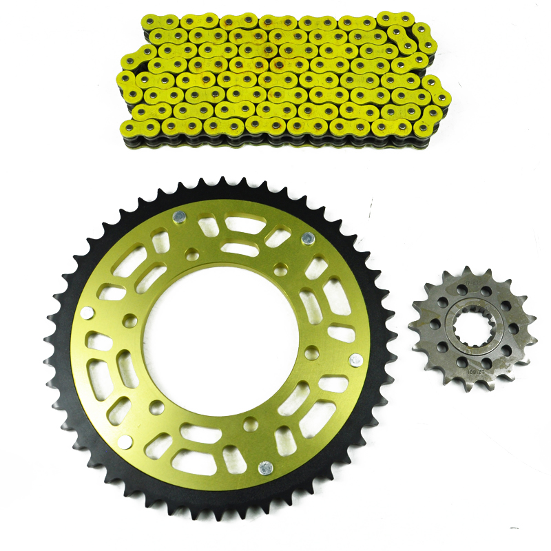 For YAMAHA F Z1 2006 2014 Motorcycle Complete Sets Front Rear Sprocket 530 Chain Kit