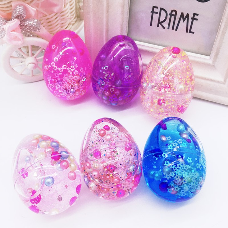 2018 Brand New Egg Colorful Jelly Soft Slime Scented Stress Relief Toy Sludge Kid Toys Kids Gift Stress Relif Toys colorful diy creative funny egg crystal mud toy for reducing stress