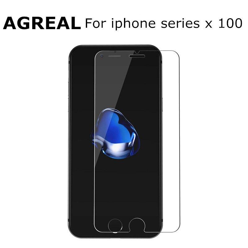 imágenes para 100 unids/lote para alppe iphone 6 6pus 9 h 2.5d 0.26mm premium protector de pantalla de cristal templado para iphone 7 7 plus película protectora