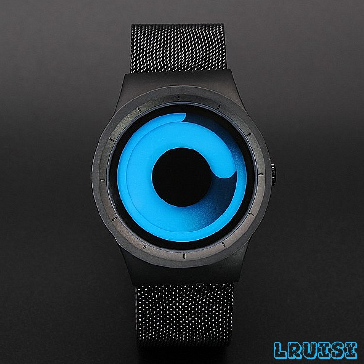 Creative Gift Men Fashion 316 Steel Watch New Concepts Men's Whirlpool Elements Watches Personality Women Fashion Sports Watches south korea creative concept fashion personality women men couple watches new trend minimalist gift watches