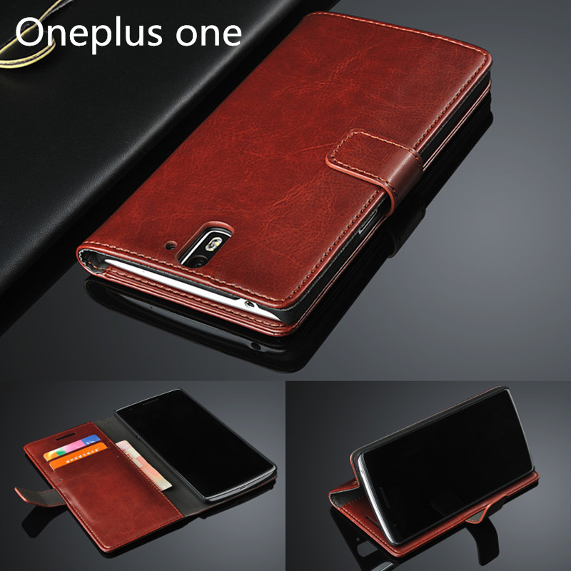 One plus one 1+ card holder cover case for Oneplus one A0001 leather phone case ultra thin wallet flip cover Free shipping