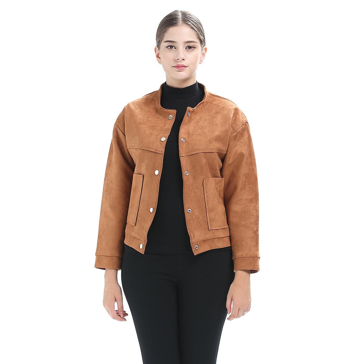Blouson d'automne pour femme, haut, élégant, avec poches de veste pour femme, suché, Mujer, Punk, Rock, à la mode
