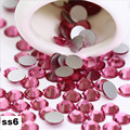 Ss6 2.0mm Rose Prego Pedrinhas, 1440 pçs/lote Plana Volta Non Hotfix Glitter Pedras Prego, Prego 3d DIY telefones Decorações Suprimentos