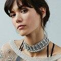 Lujo 2017 Nuevo Maxi de Boho Vintage Cadena de Oro Declaración Collier Femme Corto Collar Collar de Gargantilla de Metal Regalos de Navidad Bijoux