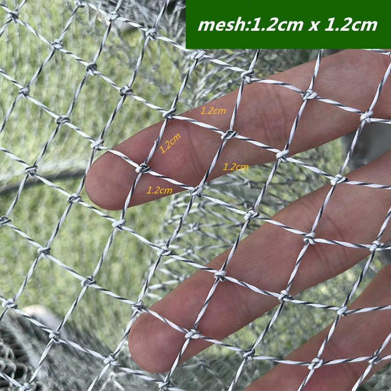 Pesca bolsa de malla al aire libre red de pesca de nylon red bolsa trampa herramientas bolsa de pescado baske herramienta de pesca L1m-L3.5m 19 tamaños