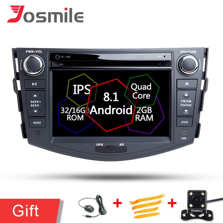 2DIN PX30 Android 8.1 Quad Core Stereo Car DVD Player For Toyota RAV4 2006 2012 Multimedia GPS Navigation SWC Wifi USB SD 4G LTE