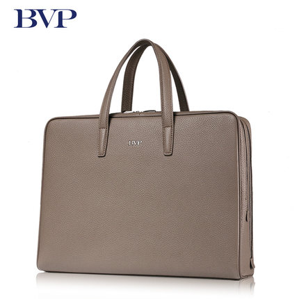 High Quality Famous BVP Brand Genuine Leather Business Men Portable Briefcase Cow leather High-Capacity Zipper Attache Case J50 free shipping men genuine leather briefcase brown color high quality fashion business messager shoulder attache portfolio totet8