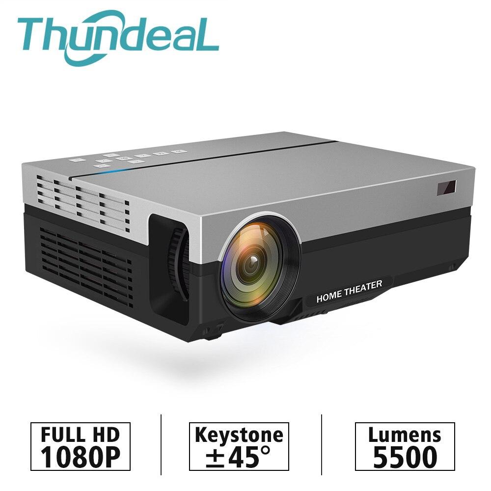 ThundeaL projecteur Full HD T26K natif 1080 P 5500 Lumens LED vidéo LCD Home cinéma cinéma HDMI VGA USB TV 3D T26L T26 projecteur