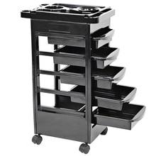 5 Drawers Hair Salon Instrument Storage Cart Adjustable Height Trolley Beauty Tools Multi-functional rack