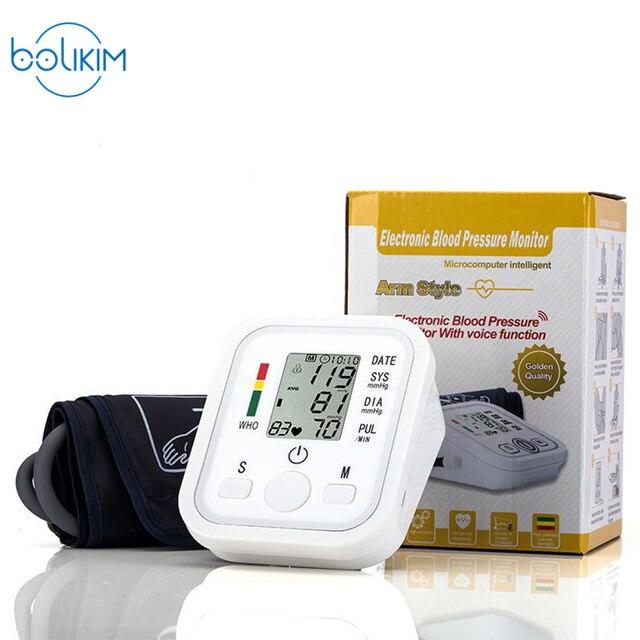 b42041db1 Home Care Digita LCD Braço Monitor de Pressão Arterial Esfigmomanômetro  Tonômetro Aleti Medidor BP Monitor Cardíaco