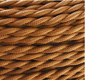 10m/lot 2 x 0.75mm2 Dark Brown Vintage Twisted Electrical Wire Textile Cable Vintage Lamp Cord Pendant Light Lamp Wire