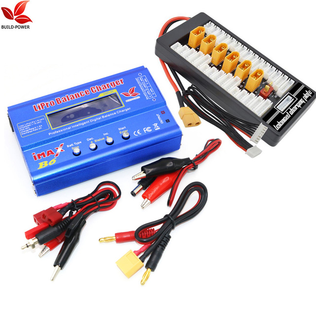 New iMAX B6 80W XT60 LiPo Battery Balance Charger + B6AC Lipo Charging XT60 Adaptor Board 2-6S For RC Battery