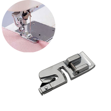 1Pcs 6mm Crimping Edge Sewing Machine Foot New Metal Wide Rolling Edge Presser Foot for Household Sewing Machines 7307W 1pcs locking edge sewing edge sewing machine foot 7310 metal household multifunction presser feet for sewing machine accessories