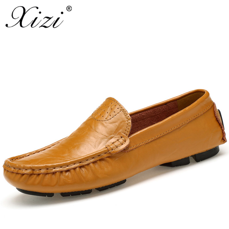 XIZI Men Casual Genuine Leather Shoes Loafers Male Shoes Quality fashion Slip-On Shoes Men Flats Hot Sale Moccasins  Boat Shoes npezkgc new arrival casual mens shoes suede leather men loafers moccasins fashion low slip on men flats shoes oxfords shoes