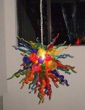 лучшая цена Free Shipping House Decorative Multi Colored Glass Chandelier