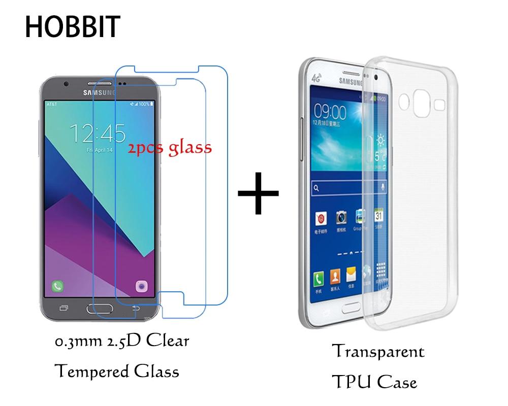 For Samsung J2 2017 J200g Transparent Tpu Back Cover Case